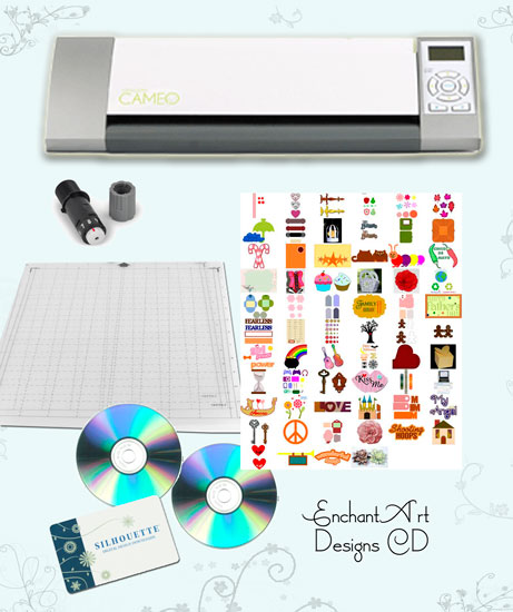 Silhouette Cameo + EA Designs CD