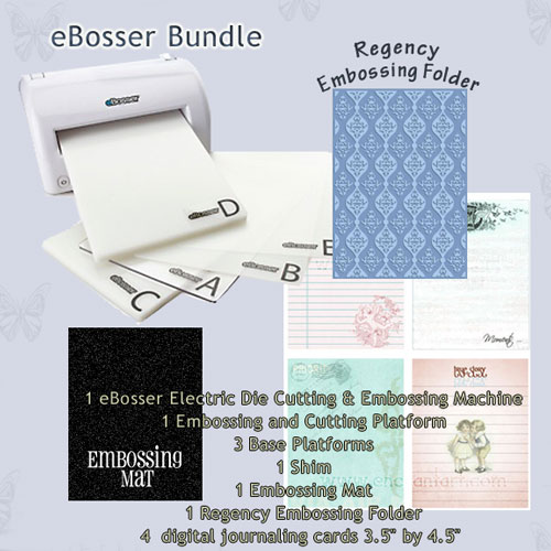 eBOSSER Electric Embosser and Cutter BUNDLE