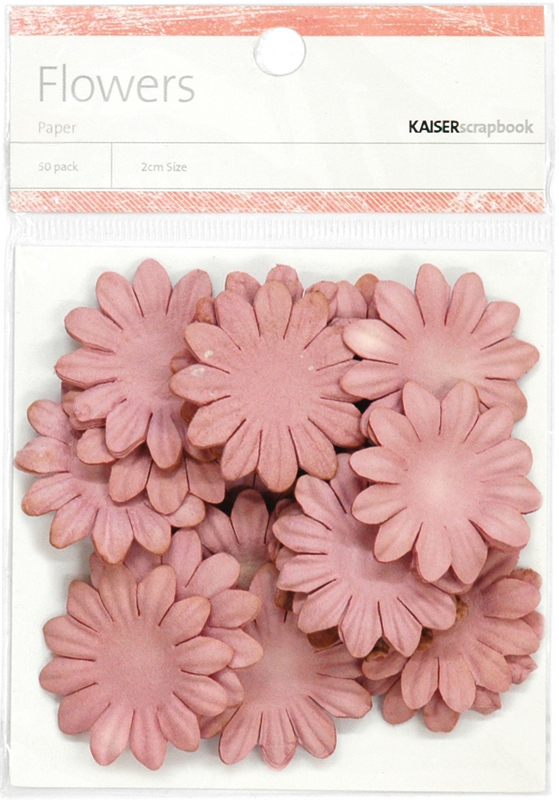 "Paper Flowers 1.38"" (3.5cm) 50/Pkg - DUSTY PINK"