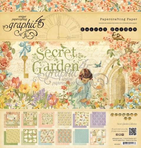 Graphic 45 Secret Garden Paper Pad 12x12