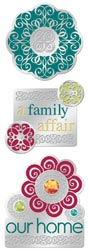 Metal Charm Stickers: A Family Affair