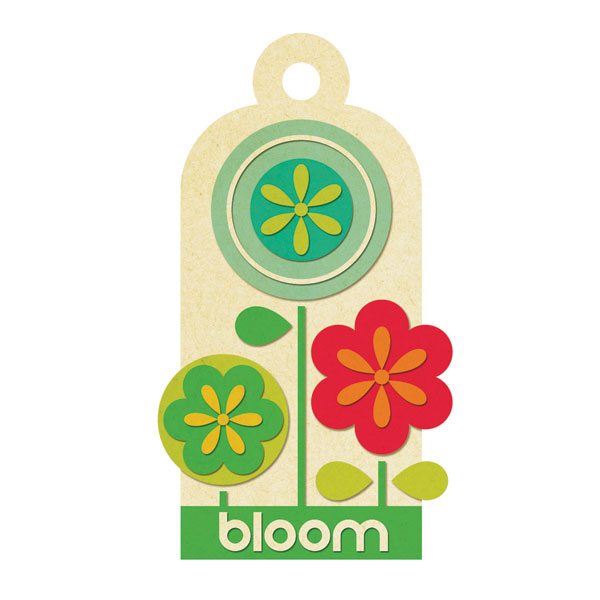 72 & Sunny Embossed Tags Bloom