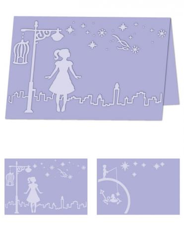 Whimsical Wishes- A4 Size eBosser Embossing Folder